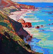 Cambria Paintings - Coast Line by Erin Hanson