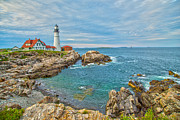Cape Elizabeth Framed Prints - Coast Of Maine Framed Print by Karol  Livote