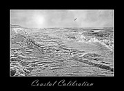 Frozen Beach Shore Prints - Coastal Calibration Print by Betsy A Cutler East Coast Barrier Islands