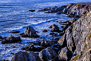 Rip Framed Prints - Coastal Cliffs Framed Print by Garry Gay