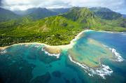 Featured Prints - Coastal Kauai Aerial Print by Kicka Witte