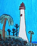 Brandon Drucker Prints - Coastal Lighthouse Print by Brandon Drucker