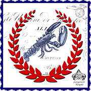 Surtex Licensing Art - Coastal Lobster Kitchen Art by Anahi DeCanio