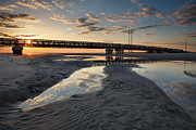 Pea Island Prints - Coastal Ponds And Bridge II Print by Steven Ainsworth