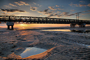Pea Island Framed Prints - Coastal Ponds and Bridge IV Framed Print by Steven Ainsworth