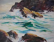 Coastal Rocks Print by John  Svenson