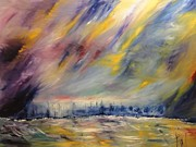 Raining Painting Originals - Coastal Storm by PainterArtist FIN