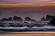 Bandon Beach Posters - Coastal Sunset Poster by Andrew Soundarajan