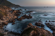 Big Sur Metal Prints - Coastal Tranquility Metal Print by Mike Reid