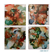 Ceramic Mixed Media Prints - Coaster Set Print by Linda Ginn