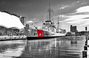 Docked Posters - Coastguard Cutter Poster by Scott Hansen