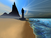 Hope Digital Art - Coastline by Corey Ford