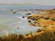 Impressionistic Landscape Painting Framed Prints - Coastline Framed Print by Sue  Darius