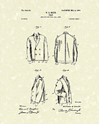 Short Jacket Prints - Coat 1903 Patent Art Print by Prior Art Design