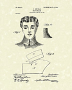 Collar Drawings Metal Prints - Coat Collar 1904 Patent Art Metal Print by Prior Art Design