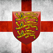 Coat Of Arms Digital Art - Coat of Arms and Flag OF England by Serge Averbukh
