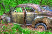 Rusted Cars Prints - Coat of Different Colors- Auto Personalities #3 Print by Dan Stone