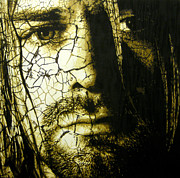 Pearl Jam Paintings - Cobain - You Know Youre Right by Bobby Zeik