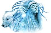 Cobalt Warrior Princess Print by Sheena Pike