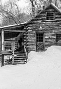Hunting Cabin Photo Framed Prints - Cobber Cabin Stowe Vermont Framed Print by Edward Fielding