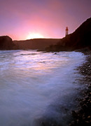 Yaquina Head Lighthouse Photos - Cobble Beach Sunset by Mike  Dawson