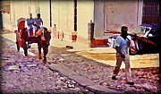 Towns Digital Art - Cobble Stone Streets of Cuba by John Malone
