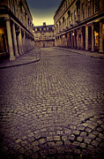 Bath England Framed Prints - Cobbled Street at Dusk Framed Print by Jill Battaglia