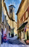 Cities Mixed Media - Cobbled Street by Dragica  Micki Fortuna