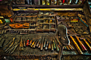 Shoe Repair Prints - Cobblers Tools Print by David Morefield