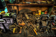 Shoe Repair Prints - Cobblers Workbench Print by David Morefield