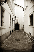 Interior Scene Metal Prints - Cobblestone Walk Metal Print by John Rizzuto