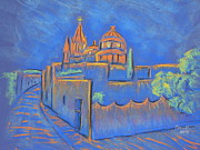 Magazine Pastels - Cobblestones to the Basilica by Marcia Meade