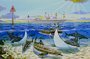 Fishing Rods Prints - Cobia Run In004 Print by Carey Chen