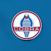 Car Photo Posters - Cobra Emblem Poster by Jill Reger
