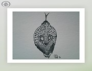 Reptiles Drawings Prints - Cobra Eyes Print by Jeffrey Jefferson
