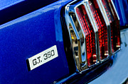 Cobra Photo Posters - Cobra GT 350 Taillight Emblem Poster by Jill Reger