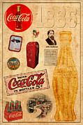 Coca-cola Signs Metal Prints - Coca Cola Metal Print by Andrew Fare