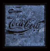 Coca-cola Sign Art - Coca Cola Blues by John Stephens