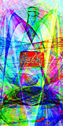 Sizes Digital Art Prints - Coca Cola Bottle 20130621di Long Print by Wingsdomain Art and Photography