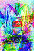Coke Bottle Prints - Coca Cola Bottle 20130621di Print by Wingsdomain Art and Photography