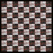 Coca-cola Sign Art - Coca Cola Checkerboard by John Stephens