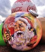 Coca Cola Christmas Bulbs Print by Dan Sproul