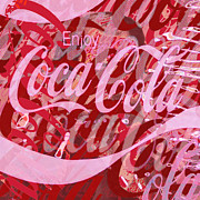 Icon Mixed Media Originals - Coca-Cola Collage by Tony Rubino