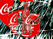 Coca-cola Sign Paintings - Coca-Cola by Daniel Janda