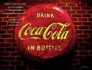 Bottles Of Paint Prints - Coca Cola Dylan Quote Print by Joan  Minchak