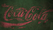 Coca-cola Sign Art - Coca Cola Grunge Pink Green by John Stephens