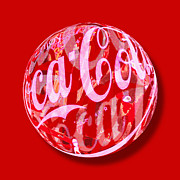 Soda Mixed Media - Coca-Cola Orb by Tony Rubino