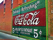 Clay Center Prints - Coca Cola Print by PainterArtist FIN