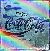 Coca-cola Sign Art - Coca Cola Rainbow by John Stephens