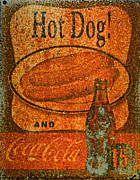Hot Dog Photos - Coca Cola Rusty Sign by Paul Ward